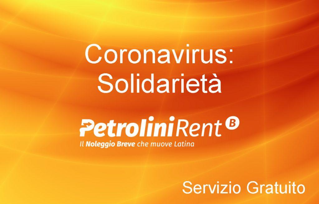 Coronavirus Solidarietà – Auto in uso Gratuito